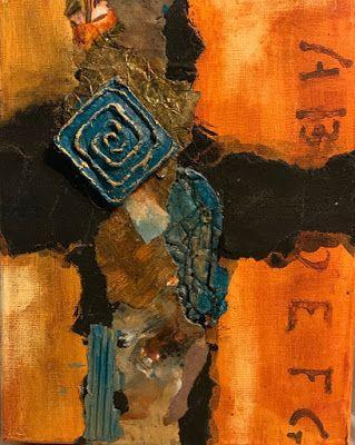 """Abstract Mixed Media Art, Contemporary Painting, """"NEW EXPERIENCES IN ORANGE AND TURQUOISE"""" by Florida Contemporary Artist Mary Ann Ziegler"""