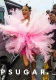 Rihanna Is Pretty in Pink as She Attends the Crop Over Festival in Barbados - See the Photos