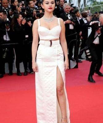Selena Gomez Stuns in a Silky Louis Vuitton Look on the Cannes