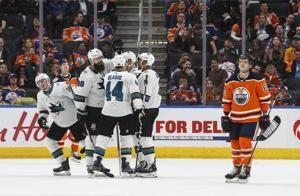 Burns lifts Sharks past Oilers 3-2 for 2nd win in 11 games