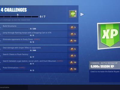 Fortnite Challenge Guide: Search Between Gas Station, Soccer Pitch, Stunt Mountain