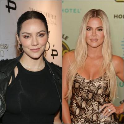 Katharine McPhee Urges Khloé Kardashian to Dye Her Hair Brown: 'Come Back to the Dark Side'
