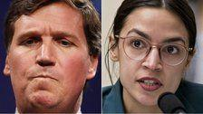 Tucker Carlson Rants About 'Moron' Alexandria Ocasio-Cortez, Then Agrees With Her