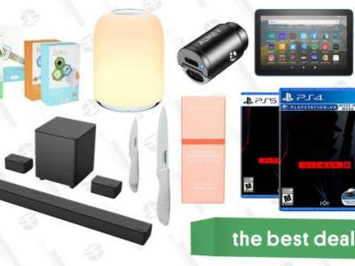 Tuesday's Best Deals: Hitman 3, Fire HD 8 Tablet, Juku STEAM Coding Kits, Cuisinart Knife Set, Peach & Lily Glass Skin Serum, Aukey USB-C Car Charger, and More