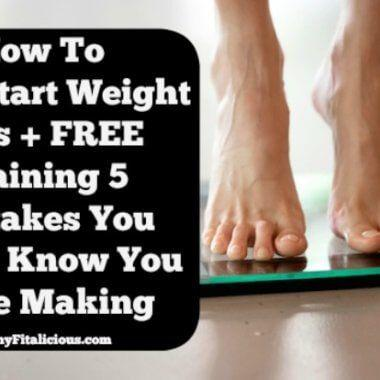 How to Jump Start Weight Loss + {Free} Training