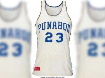 High school basketball jersey worn by Barack Obama nets $120,000 at auction