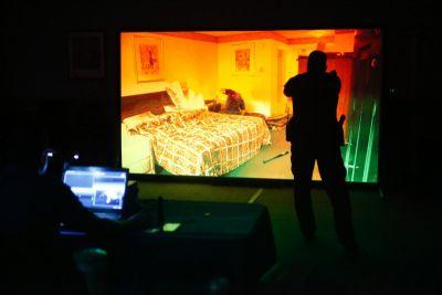 Wadsworth police officers using video simulations for firearms training this week