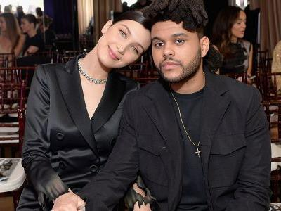 "The Weeknd and Bella Hadid Spotted ""Canoodling"" at Coachella Following His Emotional Performance"