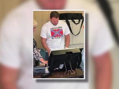 Report: Hospital worker fired after wearing Confederate shirt with noose to polls