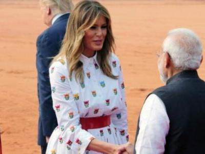 FLOTUS wears lotus on Day 2 of India visit. Here is the full story