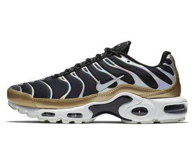 Nike's Air Max Plus Flexes Holographic Silver & Gold Accents