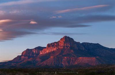 Worth a Thousand Words: Last light on the Guadalupe Mountains