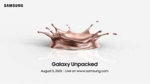 Samsung confirms Galaxy Note 20 event for August 5