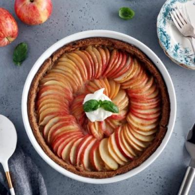 Vegan Sugar-Free Apple Tart