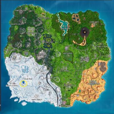 Fortnite: search where the magnifying glass sits on the Treasure Map loading screen
