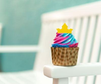 Disney's Princess Aurora Cupcake With Pink & Blue Icing Looks Just Like Sleeping Beauty's Dress