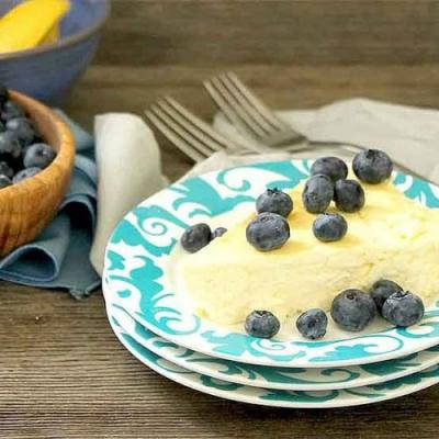 Zesty Low Carb Lemon Cheesecake