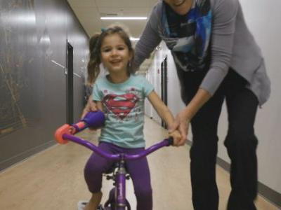 4-year-old girl receives special gift