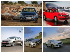 Maruti Ciaz DDiS 225 vs Honda City vs Hyundai Verna vs Skoda Rapid vs VW Vento Spec Comparo