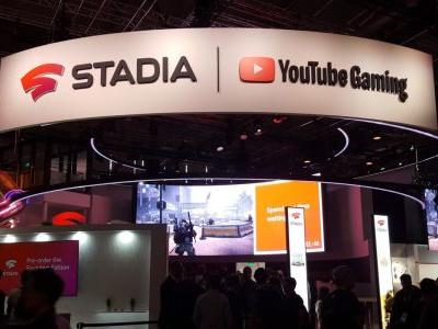 Here's the Google Stadia booth at Gamescom and yes, it has a slide