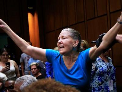What it looks like inside Brett Kavanaugh's raucous confirmation hearing, filled with loud protesters and testy senators