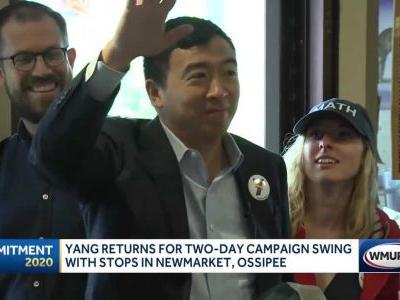 In NH visit, Yang says Trump shouldn't be prosecuted once he leaves office