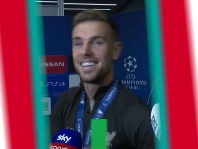 Liverpool players react to winning the Champions League