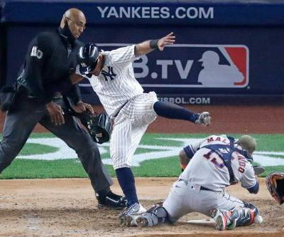 Yankees' Rougned Odor goes on injured list after home plate collision