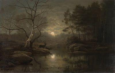 Georg Eduard Otto Saal, Forest Landscape in the Moonlight