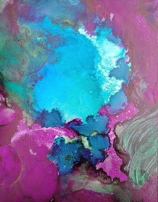 """Mixed Media, Contemporary Art, Expressionism, Abstract Painting, """"Jeweled Dreamscape"""" by Cynthia Berg"""