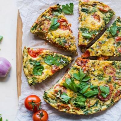 Late Summer Frittata with Tomatoes
