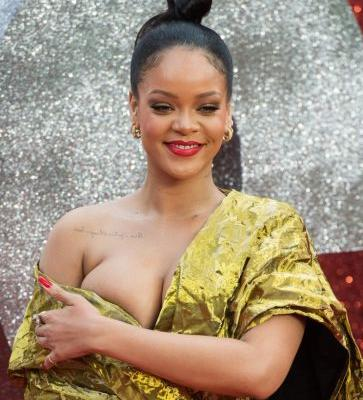 Rihanna Almost Had a Wardrobe Malfunction When Her Dress Slipped Off Her Shoulders