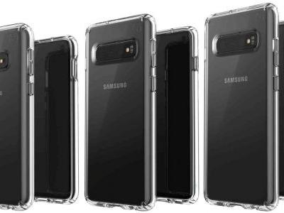 Samsung Galaxy S10E, S10, and S10+ pictured side-by-side in new leak