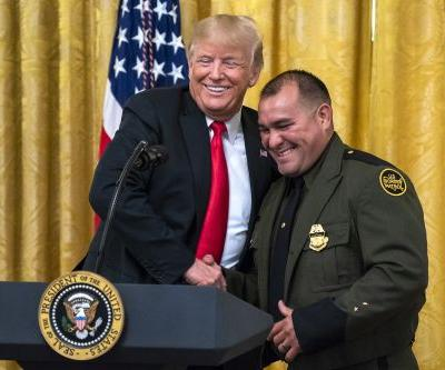 Trump praises Hispanic border guard for speaking 'perfect English'
