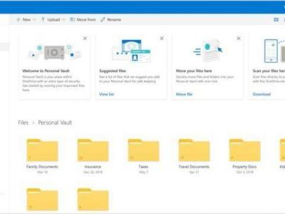 Microsoft Introduces 2FA-Locked 'Personal Vault' To OneDrive