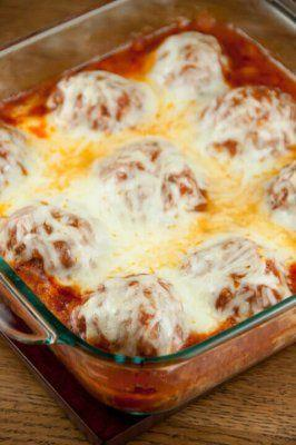 Baked Meatball Parmesan