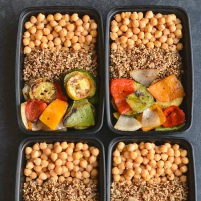 Meal Prep Chickpeas Grilled Veggies