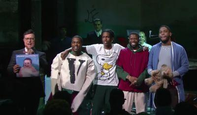 Watch A$AP Mob's Charmingly Ridiculous Colbert Performance