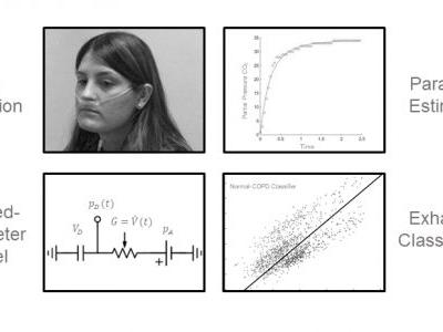 Model-Based Estimation of Respiratory Parameters from Capnography, with Application to Diagnosing Obstructive Lung Disease
