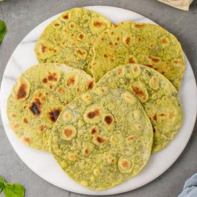 Whole Wheat Spinach Tortillas