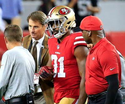 49ers running back's arm bends in horrifying way