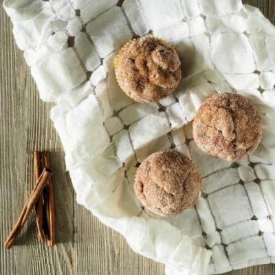 Cinnamon Walnut Banana Muffins