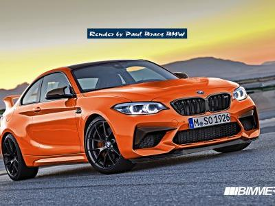 BMW M2 CSL Rendered From M2 Competition