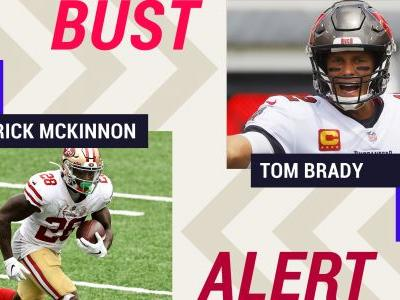 Week 4 Fantasy Busts: Jerick McKinnon, Tom Brady among risky plays in difficult matchups