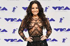 Demi Lovato Stuns In a Sheer and Sparkly Zuhair Murad Outfit at 2017 VMAs: Exclusive