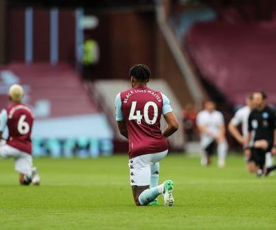 Aston Villa, Sheffield United players take a knee before Premier League return