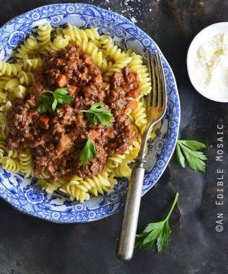 30-Minute Beef Bolognese and Red Wine