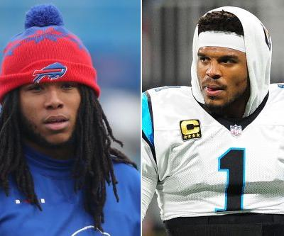 Painfully awkward midfield talk doesn't help Cam Newton feud