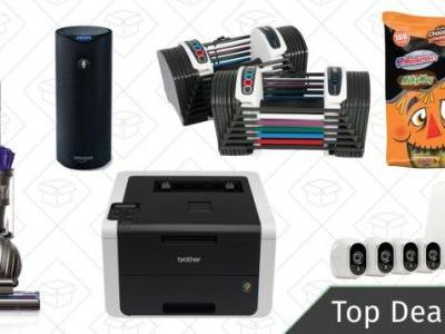 Thursday's Best Deals: Dyson Vacuum, Halloween Candy, Adjustable Dumbbells, and More