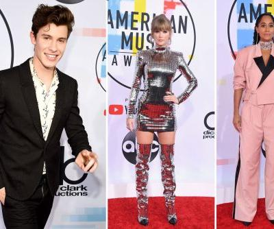 Stars storm the American Music Awards red carpet